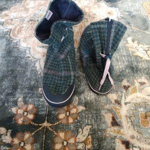 Vans Boylston Women Green Textile Ankle Sneakers